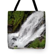 Lower Part Of Red Blanket Falls Tote Bag