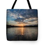 Lower Sunset Lake Tote Bag