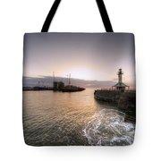 Lowestoft Harbour At Dawn Tote Bag