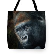 Lowland Gorilla Painting Tote Bag by David Stribbling