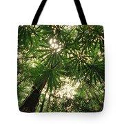 Lowland Tropical Rainforest Fan Palms Tote Bag