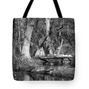 Loxahatchee Black And White Tote Bag