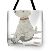 Lakeland Terrier Art Hand-torn Newspaper Collage Art Pet Portrait Tote Bag