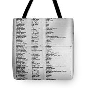 Loyalists, 1774 Tote Bag