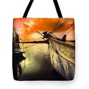 Lsu Shrimp Boat Tote Bag