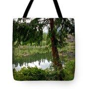 Lush Green At Starvation Lake Tote Bag