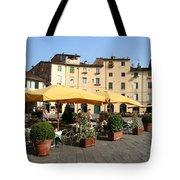 Lucca Piazza Del Mercato  Tote Bag