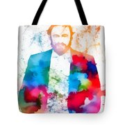 Luciano Pavarotti Paint Splatter Tote Bag