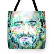 Luciano Pavarotti - Watercolor Portrait Tote Bag