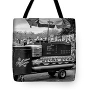 Lucky Dogs In Jackson Square Nola Bw Tote Bag