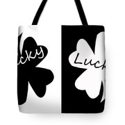Lucky Four Leaf Clover Digital Painting Tote Bag