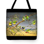 Lucky Seven - Gouldian Finches Tote Bag