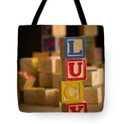Lucy - Alphabet Blocks Tote Bag