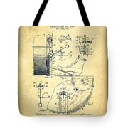 Ludwig Foot Pedal Patent Drawing From 1909 - Vintage Tote Bag