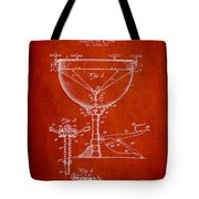 Ludwig Kettle Drum Drum Patent Drawing From 1941 - Red Tote Bag
