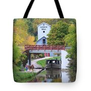 Ludwig Mill And Canal Boat  1480 Tote Bag