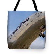 Lufthansa Airbus A-380 Tote Bag