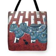 Lug Nuts On Grate Horizontal Tote Bag