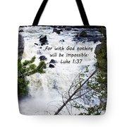 Luke 1 37  Tote Bag