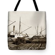 Lumber Steamers Unloading At Redwood Mfg. Co.s Wharf Pittsburg Circa 1920 Tote Bag