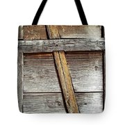 Lumber Work On The Side Of Old Cabin Tote Bag