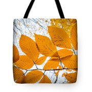 Luminescent Leaves Tote Bag