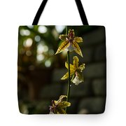 Luminous Chain Of Orchids Tote Bag