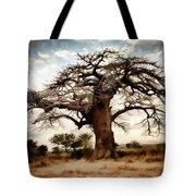 Luminous Sky And Tree Skeleton On The Prairie Tote Bag
