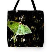 Luna Moth On Tree Tote Bag