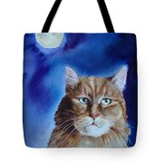 Lunar Cat Tote Bag