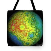Lunar Topography Globe Tote Bag