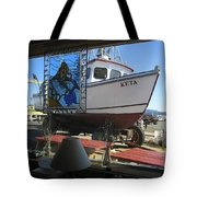 Lunch At Griffs On The Coast Tote Bag