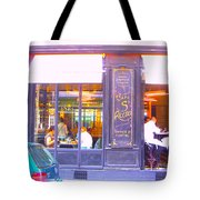 Lunch Time At The Cafe St Regis In Paris Tote Bag