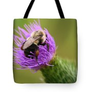 Lunching Atop A Thistle Tote Bag