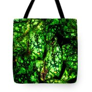 Lungwort Leaves Abstract Tote Bag