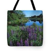 Lupin And Lake-v Tote Bag