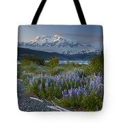 Lupine And Mount Elias Tote Bag