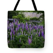 Lupine By The Fence Tote Bag