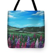 Lupine Hills Tote Bag
