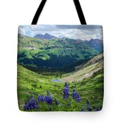 Lupine Over Valley Tote Bag