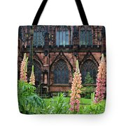 Lupines At Chester Cathedral 6805 Tote Bag