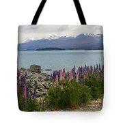 Lupins By Lake Tekapo Tote Bag
