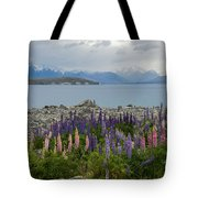 Lupins By The Lake Tote Bag