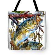 Lurking Bass Tote Bag by Carey Chen