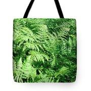 Lush Green Fern Tote Bag