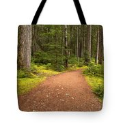 Lush Green Forest At Cheakamus Tote Bag