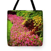 Lush Summer Garden Tote Bag by Elena Elisseeva