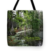 Lush Swamp Vegetation Tote Bag