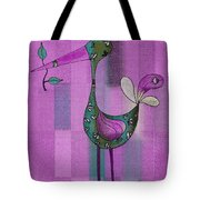 Lutgarde's Bird - 061109106-purple Tote Bag