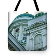 Lutheran Cathedral Of Helsinki-finland Tote Bag